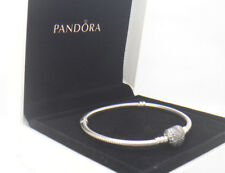 Authentic Pandora Silver Pave Heart Clasp Bracelet 7.5 in 19cm 590727CZ-19 W/Box