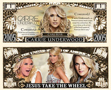 Carrie Underwood Million Dollar Bill Collectible Fake Funny Money Novelty Note
