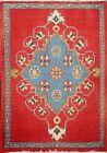 Vintage Geometric Hand-knotted Sarouk Area Rug Wool Oriental Carpet 2'x2' Square