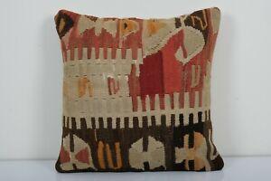 "20"" x 20"" Decorative Pillows Handwoven Kilim Decorative Pillow"