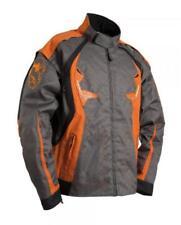 Giacca di moto enduro cross TT trial taglia L TRAP colore grigio arancione