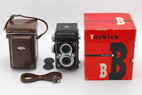MINT Yashica Yashicaflex Model B W/ Lens Cap,Leather Case, Box from Tokyo Japan