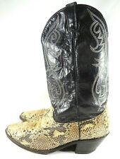 Dingo 5130 Python Snake Skin Leather Western Cowboy Boots Mens Size 12EW Vintage
