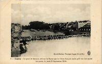 CPA  Lagny - Le pont de bateaux jeté sur la Marne par le Génie francais (249861)