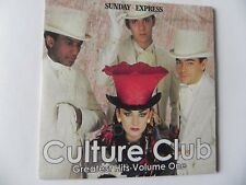 CULTURE CLUB GREATEST HITS VOLUME ONE PROMO CD ALBUM