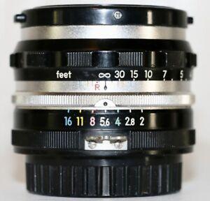 Nikon Tick Mark Nikkor S 5cm f/2  Made In 1959 Original Condition