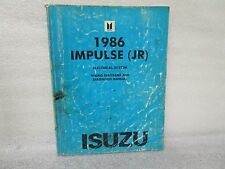 1986 Isuzu Impulse (Jr) Electrical System Wiring Diagrams And Diagnosis Manual