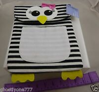 for Ipad  2 3 4 felt Penguin case zebra print black white tablet protection cute