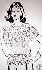 713 Vintage PINEAPPLE BLOUSE Pattern to Crochet (reproduction)