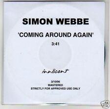 (B416) Simon Webbe, Coming Around Again - DJ CD
