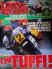 Motosprint 27 1985 In Olanda Mamola ok, Spencer e Lawson ko. Suzuki RG 500 [Q77]