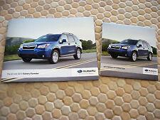 SUBARU FULL LINE FLASH CARD DRIVE PRESS KIT 2013 AND FORESTER BROCHURE 2014.