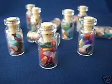 4  Bottles..... Natural Loose Polished Gemstones