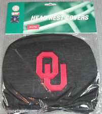 NCAA NWT HEAD REST COVERS -SET OF 2- OKLAHOMA SOONERS