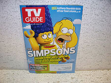 TV Guide Magazine April 21 2014 The Simpsons Lego Episode Homer Marge