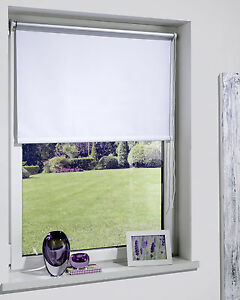 Thermorollo Rollo Klemmfix Seitenzug  40 - 140 cm breit  160 + 220 cm lang Weiss