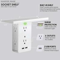 Socket Shelf 8 Port Surge Protector Wall Outlet 6 Electrical Outlet Extenders ss