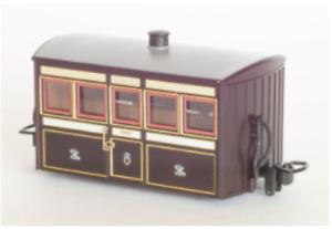 "Peco GR-550 - FR ""Bug Box"" coach, 1st Class, Victorian Livery: OO-9 Gauge - T48"