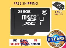 Carte Micro SD 256 Go Class 10 TF Flash Memory mini SDHC SDXC-Gratuit Adaptateur