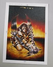 """SIGNED 8x11.25"""" canvas art print! Luis Royo! Extremely rare and gorgeous! LOOK!"""