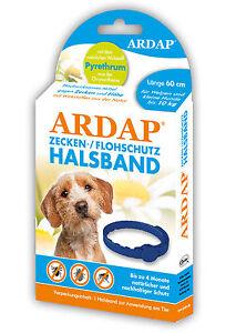 Ardap Zecken- und Flohhalsband für kleine Hunde bis 10kg (60cm Länge)