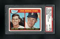 1965 TOPPS #593 TIGERS ROOKIE STARS MOORE/SULIVAN PSA 8 NM/MT++SHARP CARD!