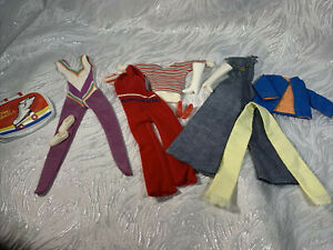 Vintage Barbie Doll Clone, Mommy Made Hand Made Clothes Lot Shoes Accessories js