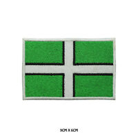 DEVON County Flag Embroidered Patch Iron on Sew On Badge For Clothes