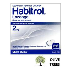 Habitrol Nicotine Lozenges 2 mg Mint Flavor (216 pieces, 1 box) NEW 08/2021