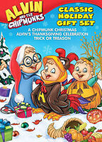 Alvin and the Chipmunks - Classic Holiday Gift Set (DVD, 2008, 3-Disc Set)🌴FD4U