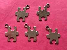 Tibetan Silver Puzzle Piece/Jigsaw Charms 5 per pack - Autism Awareness Symbol