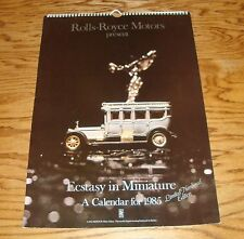 Original 1985 Rolls Royce Ecstasy In Miniature Limited Numbered Edition Calendar