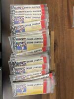 (60) David Justice  Silver Star Ticket 1991 LIQUIDATION LOT !!