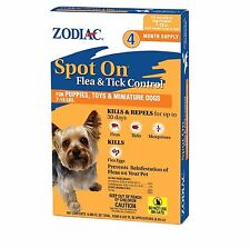 Zodiac Flea & Tick Spot On For Puppies Toys & Mini 7 to 15 Pounds 4 month Supply