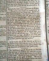 GAY HEAD LIGHTHOUSE Planned Construction Martha'a Vineyard 1799 Boston Newspaper