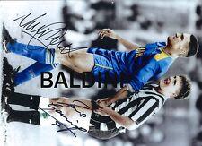 Paul Gascoigne & Vinnie Jones dual signed 12x18 Inch Photo - Famous Ball Squeeze
