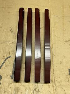 4 x WOODEN MAHOGANY FURNITURE COFFEE TABLE/ BENCH LEGS 525mm X 37mm