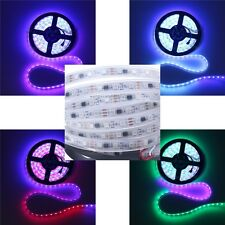 Dream Color 5M WS2811 RGB LED Strip 5050 300 LED Light Tube Waterproof 12V White