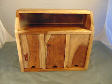 Wood Charging Station beautiful woods openings for electronics cords made India