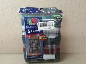 Big Men's Fruit Of The Loom Relaxed Fit Boxer  2XL 5 Pairs