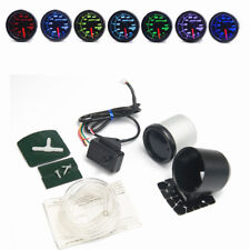 "2"" 52mm 7 Color LED Back Light Car Auto Bar Turbo Boost Gauge Meter 12V"