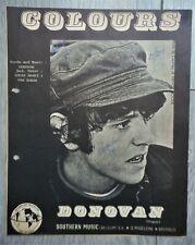 vintage 1965 Folk Rock sheet music DONOVAN - Colours as recorded for Pye records