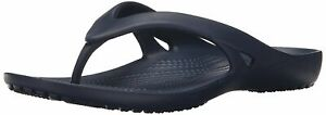 Crocs Womens Kadee ii Flip Open Toe Casual, Navy, Size 10.0 u29G