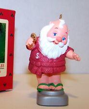 1986 New HALLMARK Ornament TIPPING THE SCALES Santa in Robe QX4186 Mint in Box