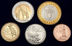 South Sudan 2 Pounds to 10 Piasters 2015 UNC Set - 5 pcs (GLCS-003)