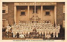 Postcard Elyria Post 12 American Legion Drum & Bugle Corp in Elyria, Ohio~112062