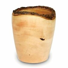 Enrico Products 2811 Mango Wood Utensil Vase, Natural Lacquer
