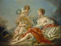 BOUCHER FRENCH ALLEGORY MUSIC OLD ART PAINTING POSTER PRINT BB5365A
