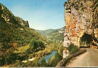 Alte Postkarte - La route longeant le Tarn aus Tunnel de la Croze