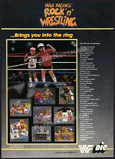 HULK HOGAN's ROCK n WRESTLING__Orig. 1987 Trade Print AD promo__DIC_Titan Sports